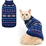 BINGPET Snowflake Turtleneck Sweater for Cats & Small Dogs - Cute Pullover Pet Puppy Kitty Knitwear Cold Weather Clothes…