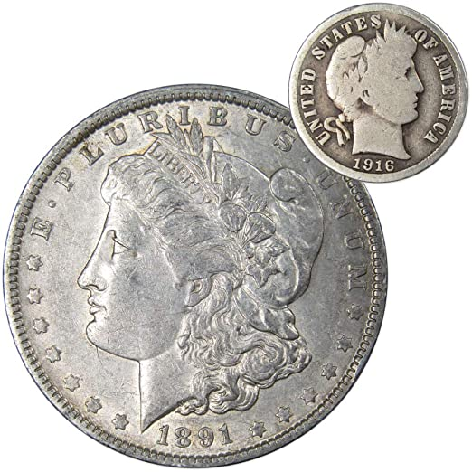 Price per Each Coin 1916 US Barber silver Dime in Good Condition