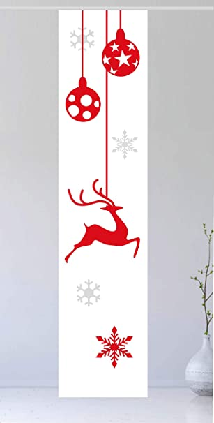 gardinen-for-life Flächenvorhang Jul Red 1 - Gr.60 x 245 cm ...