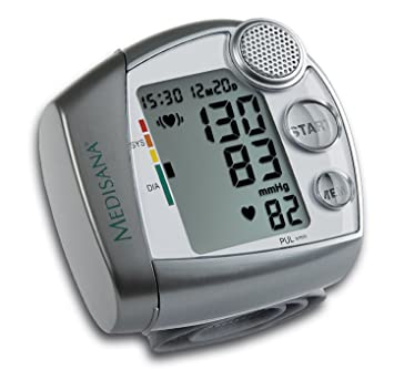 MEDISANA HGV,WRIST BLOOD PRESSURE MONITOR WITH DIAGNOSTIC AID,VOICE ANNOUNCEMENT