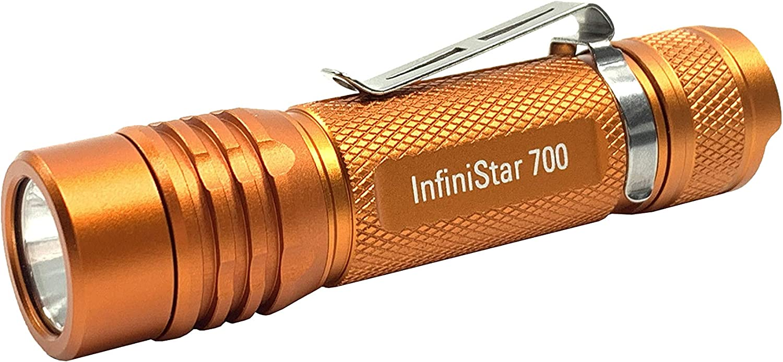 TerraLUX InfiniStar LED Li-ion Micro-USB Rechargeable Flashlight - 700 Lumens- High Vis Orange