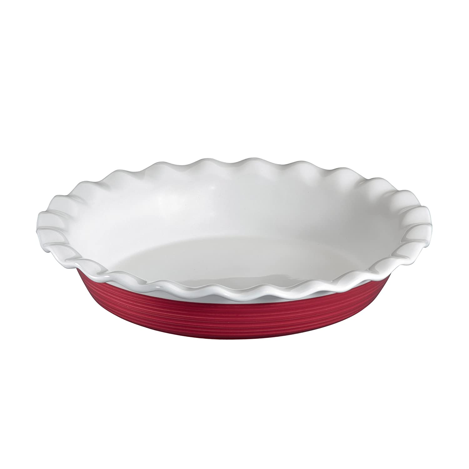 CorningWare Etch 9.5 Inch Pie Plate in Brick