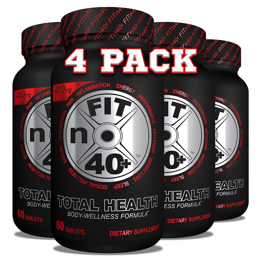 FITn40+ Plus - Total Health - Body Wellness Formula - 60 Tablets 4 Month Supply - 4 pk