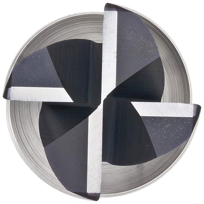 AlTiN Monolayer Finish 38mm Overall Length 4 Flutes 3mm Shank Diameter 2mm Cutting Diameter 30 Deg Helix Melin Tool CCMG-M-M Carbide Square Nose End Mill Metric