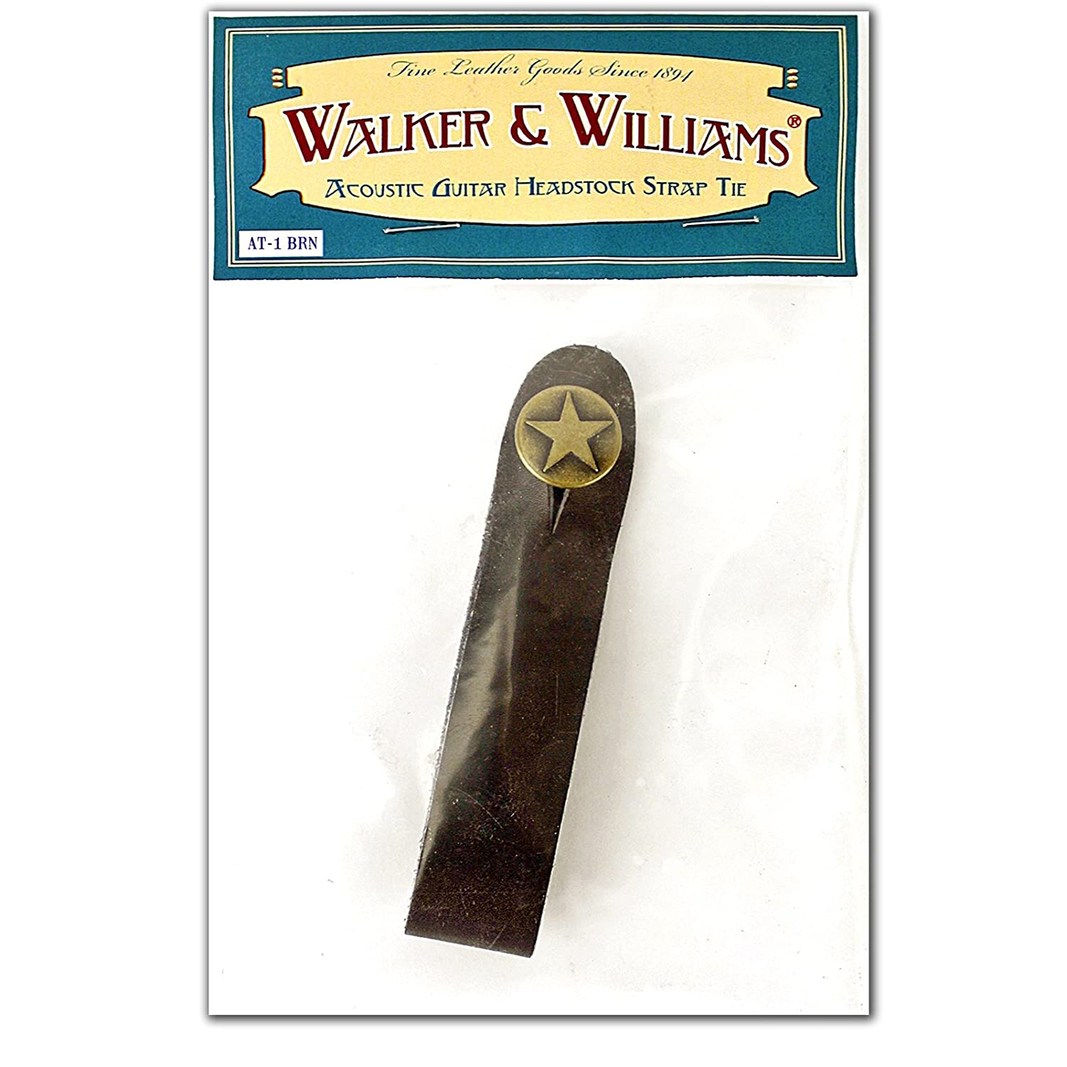 walker williams at 1 brn brown acoustic guitar strap
