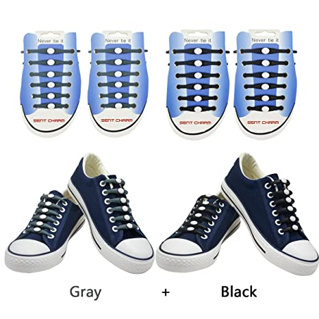 Elastico shoelace-sent fascino no cravatta lacci in silicone impermeabile  piatto Athletic running lacci per 8d50372fa9f