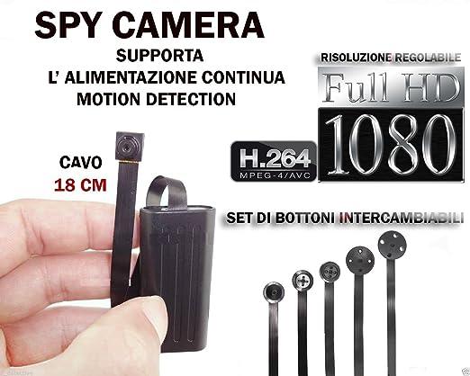 4 opinioni per MICROSPIA SPY CAMERA SPIA FULL HD MOTION DETECTION TELECAMERA MICRO NASCOSTA