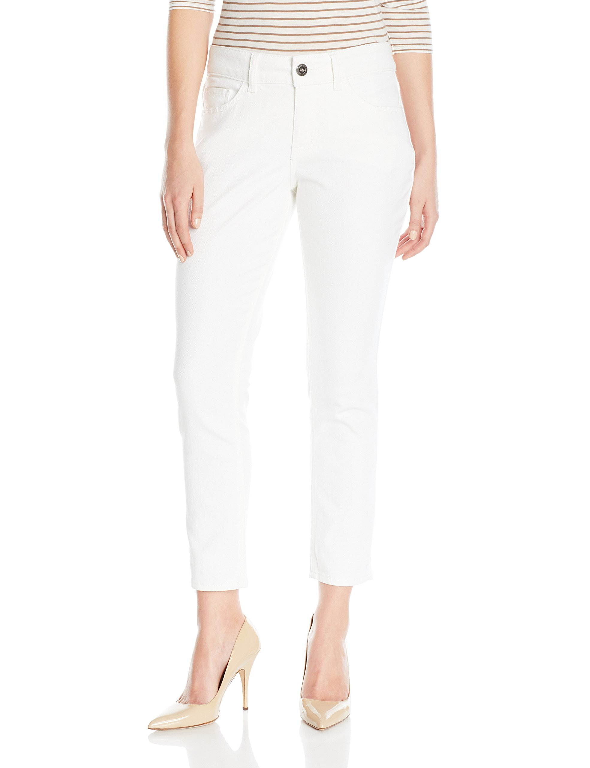 Riders by Lee Indigo Women's Petite Denim Skinny Jean, White, 8P