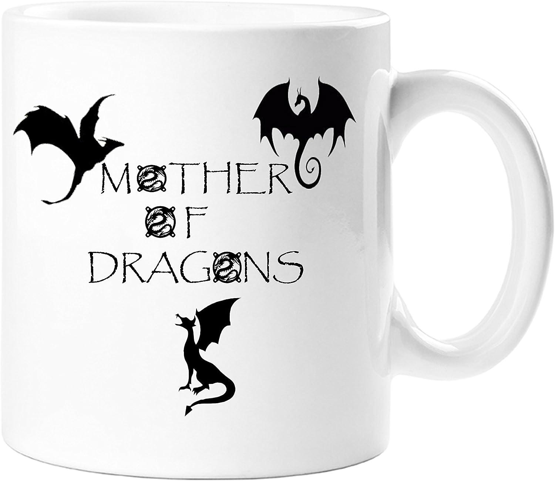 Mother Of Dragons Game Of Thrones Themed Daenerys Targaryen Novelty Gift Mug 11 Oz Tea Coffee Ceramic Mug Amazon Co Uk Kitchen Home