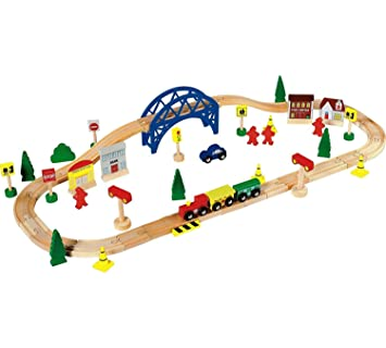 Chad Valley 60 Piece Train Set.: Amazon.co.uk: Toys & Games