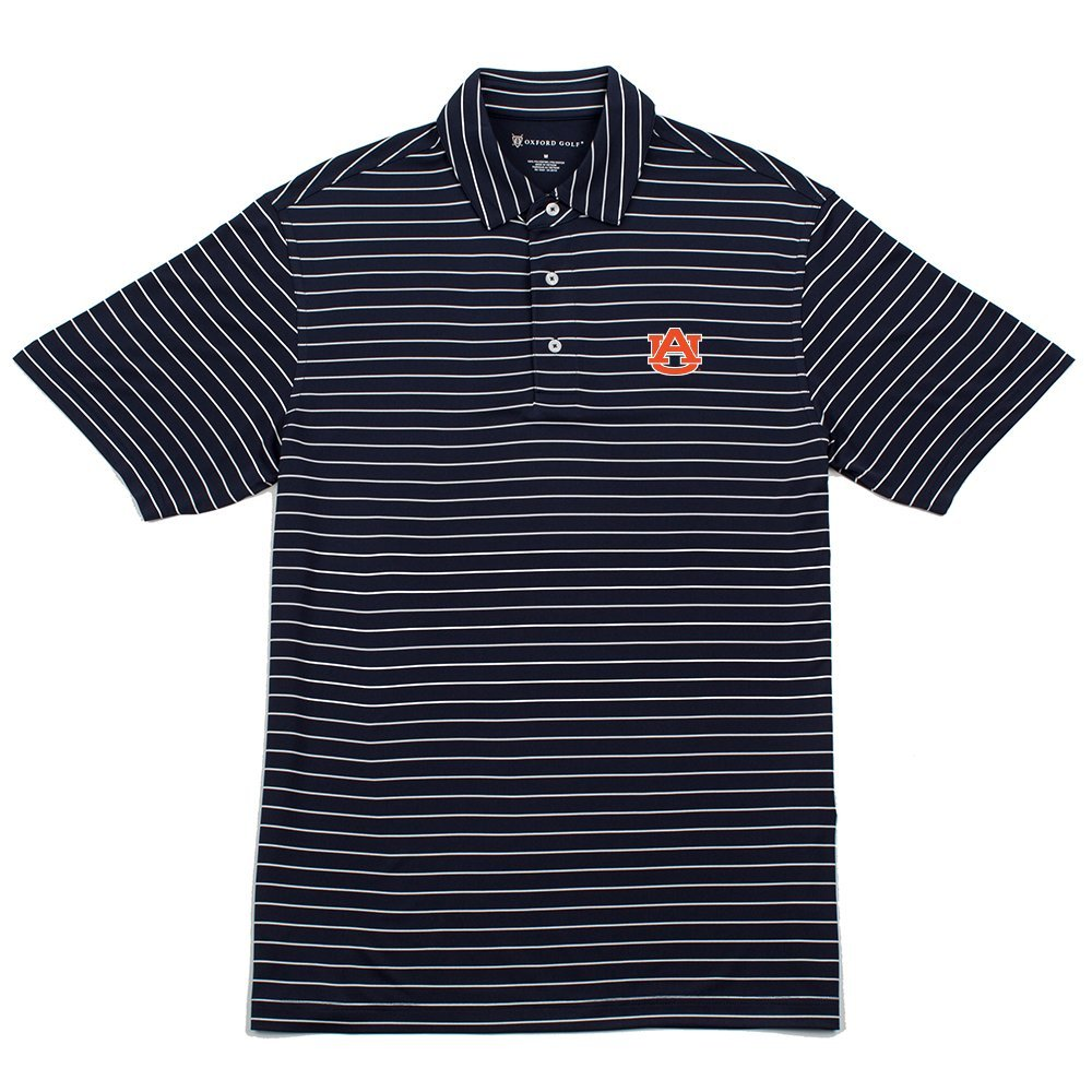 Oxford NCAA Auburn Tigers Mens Turner Classic Stripe Polo classic Navy Xx Large
