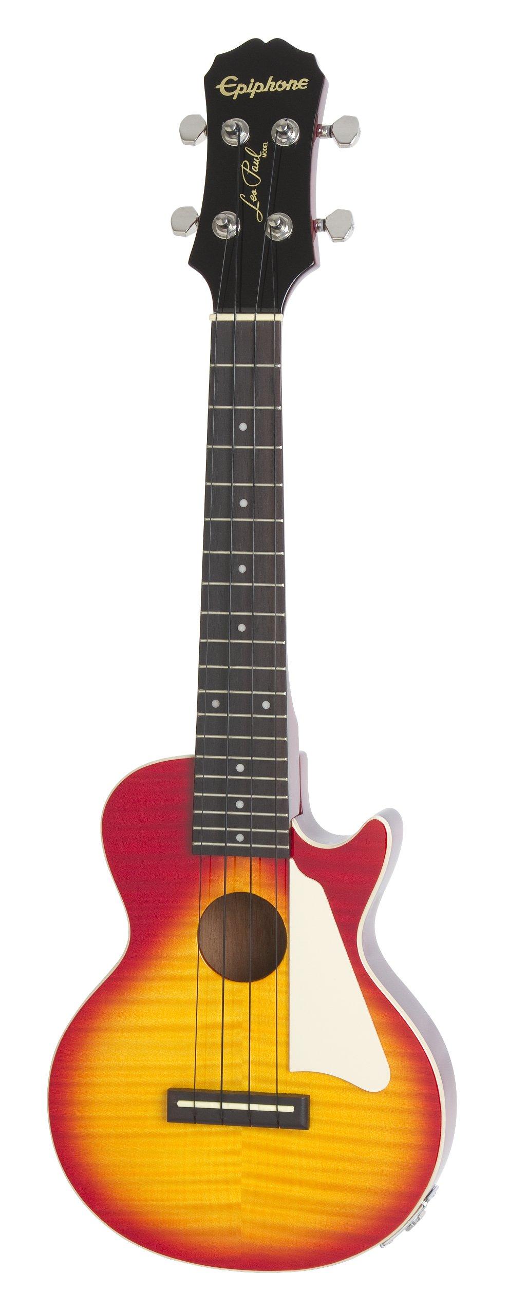 Epiphone Les Paul Acoustic/Electric Ukulele Outfit Heritage, Cherry Burst by Epiphone