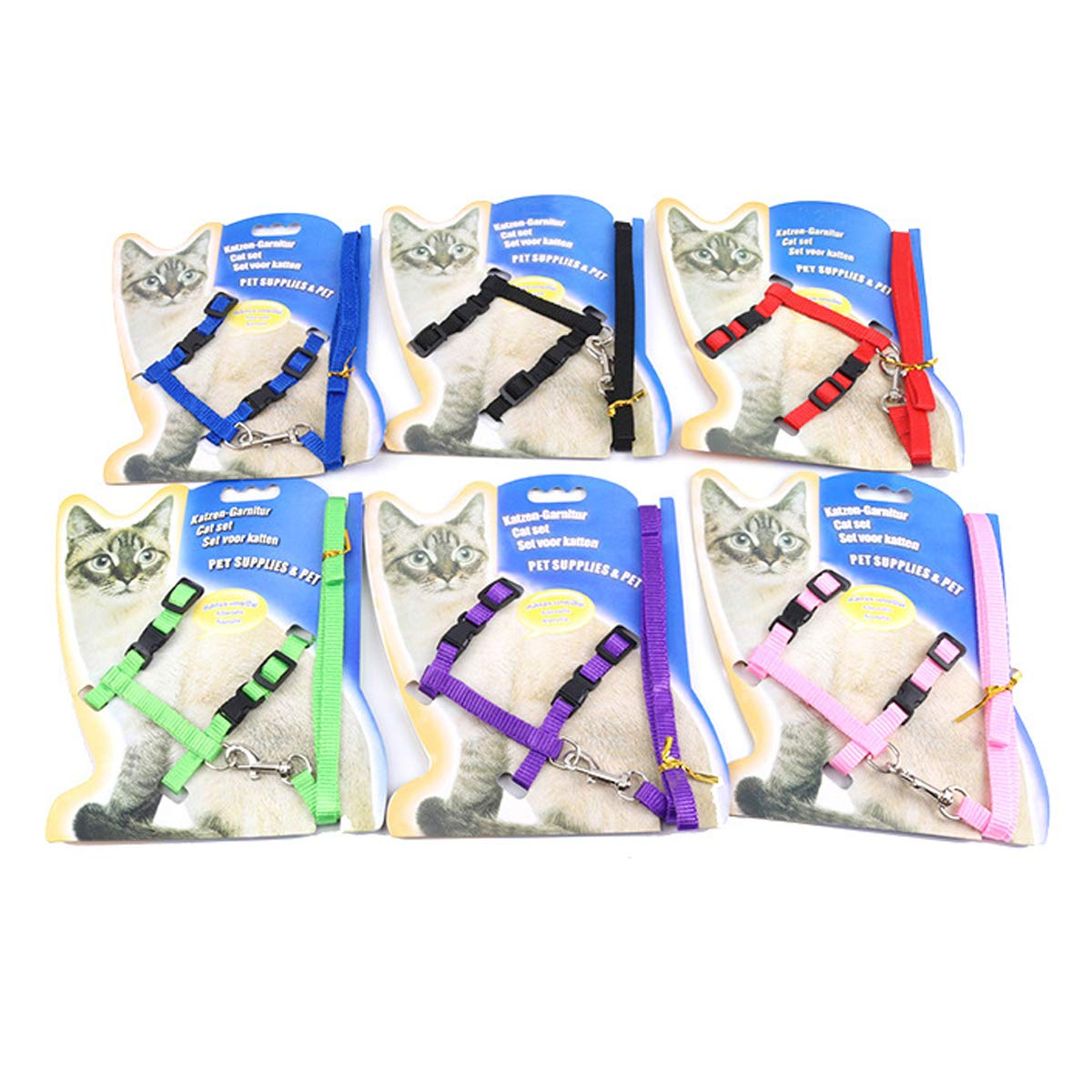 PETCUTE Cat Harness and Lead Adjustable Cat Harness and Leash set 2 Pieces kitten collar