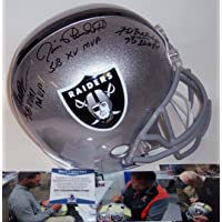 $429 » Fred Biletnikoff/Jim Plunkett/Marcus Allen - Autographed Full Size Riddell Football Helmet - Oakland Raiders - BAS Beckett Authentication