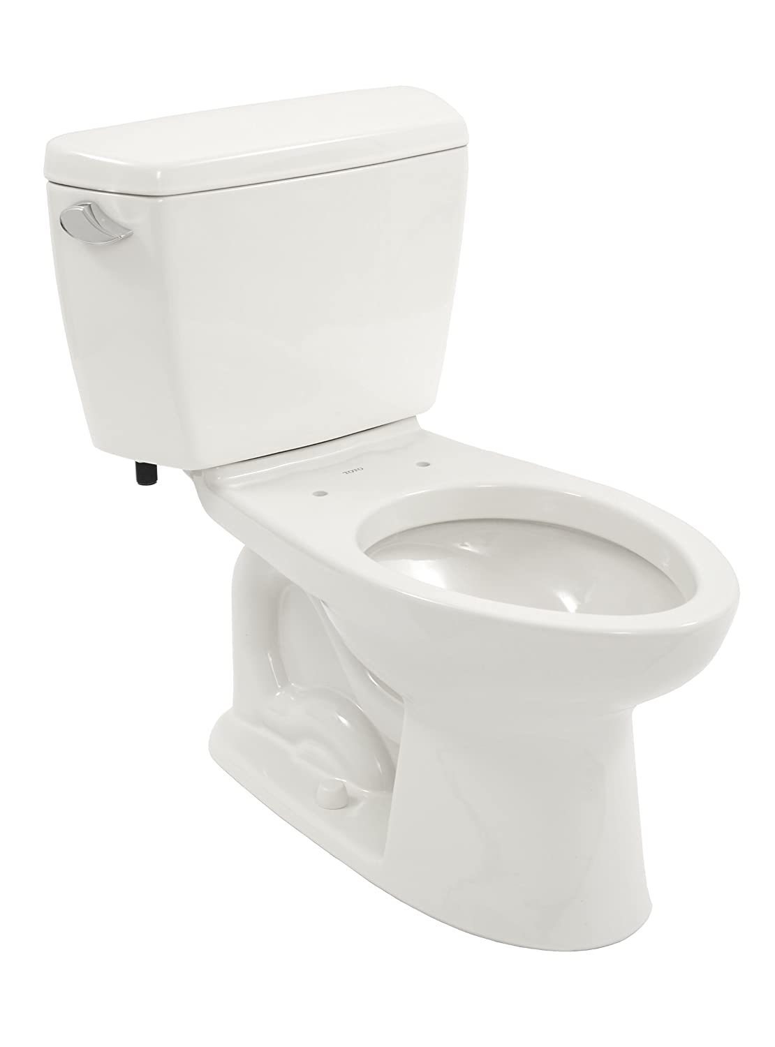 Toto Drake Elongated Bowl and Tank, Cotton White, Two-Piece Toilets ...