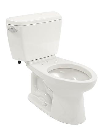 Toto Drake Elongated Bowl And Tank Cotton White Two Piece Toilets