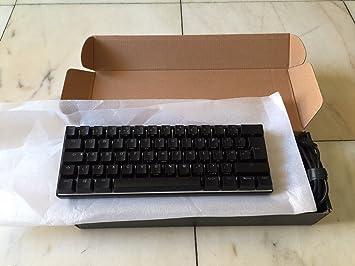 Vortex pok3r 60% teclado mecánico, Cherry MX Marrón Interruptor, retroiluminación RGB, diseño