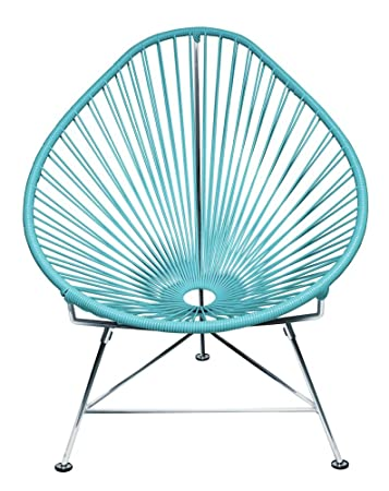 Amazoncom Innit Designs Acapulco Chair Blue Weave on Chrome