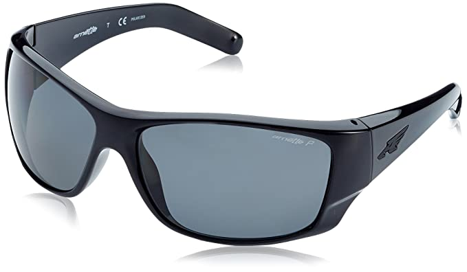 Arnette Heist 2.0 Unisex Polarized Sunglasses - 41/81 Gloss Black/Grey