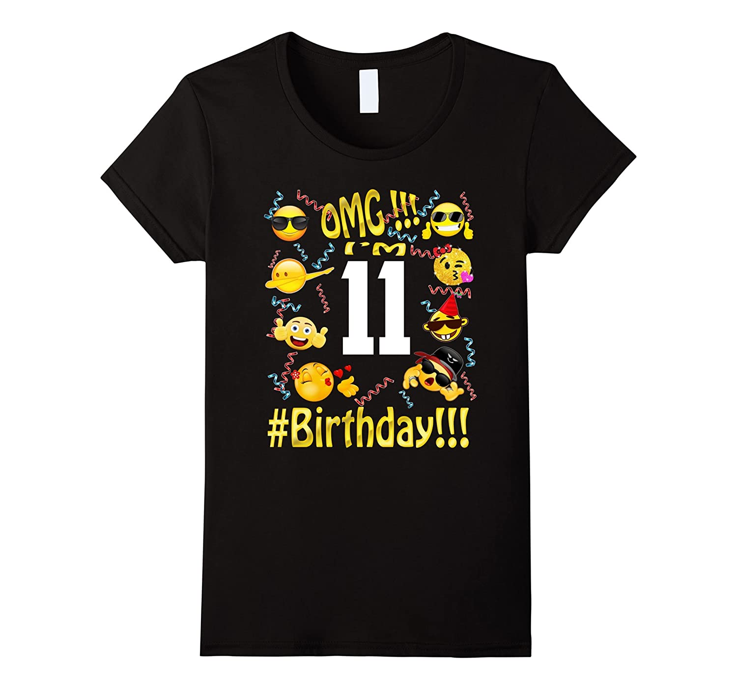 11 year old boy-girl clothes 11th birthday emoji Tshirt Gift