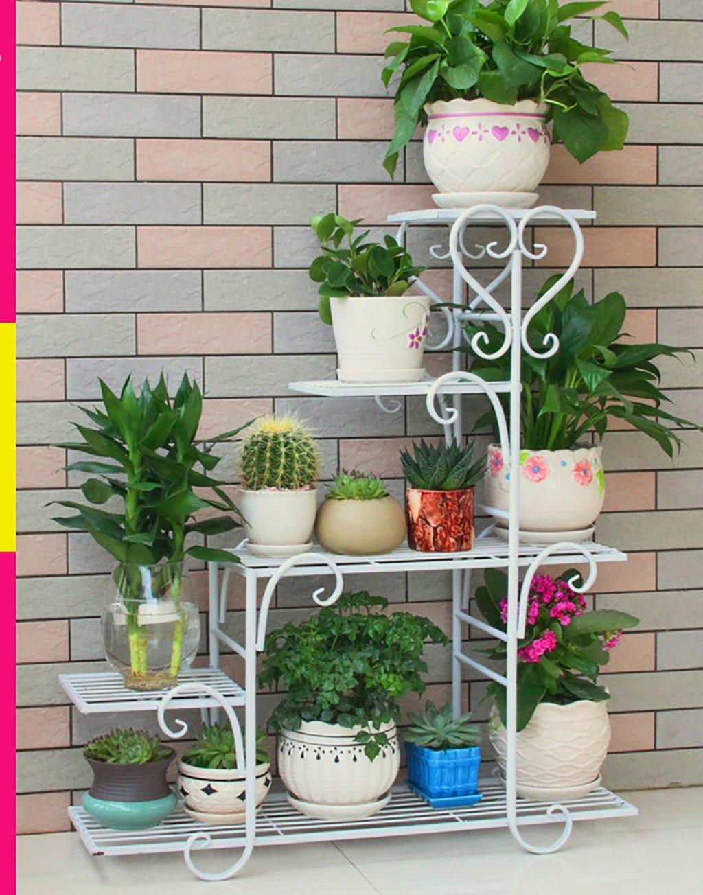 balcon voyantes Porte-fleurs porte-fleurs en fer forg/é Couleur : Blanc , taille : 68*23*85cm pr/ésentoir pour plantes de balcon porte-fleurs pour plantes vertes en plein air Plantes dext/érieur Pr/ésentoir