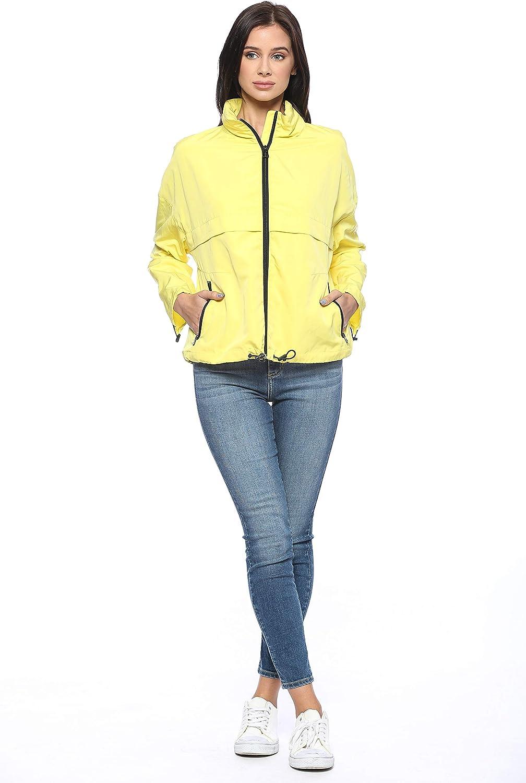 Urban Look Womens Active Outdoor Windbreaker Sportswear Jacket