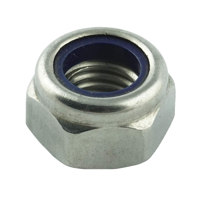 ISO 10511 Form DIN 985 M5 Sicherungsmuttern rostfrei - selbstsichernde Stoppmuttern niedr 50 St/ück Eisenwaren2000 Edelstahl A2 V2A