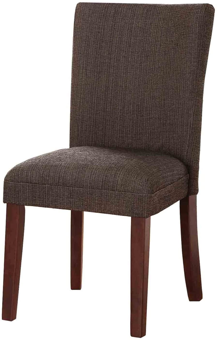 HomePop Parsons Classic Upholstered Accent Dining Chair,Single Pack, Textured Brown