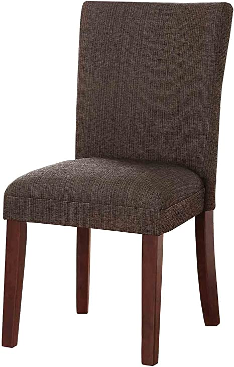 Homepop Parsons Classic Upholstered Accent Dining Chair Single Pack Textured Brown Chairs