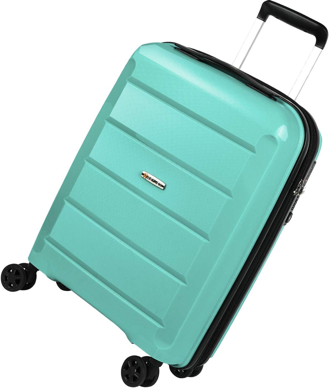 REYLEO Maleta Cabina Rígida 100% Polipropileno Equipaje de Mano con Puerto de Carga USB, Candado TSA, 4 Ruedas Silenciosas (56CM - 31.5L) - Verde