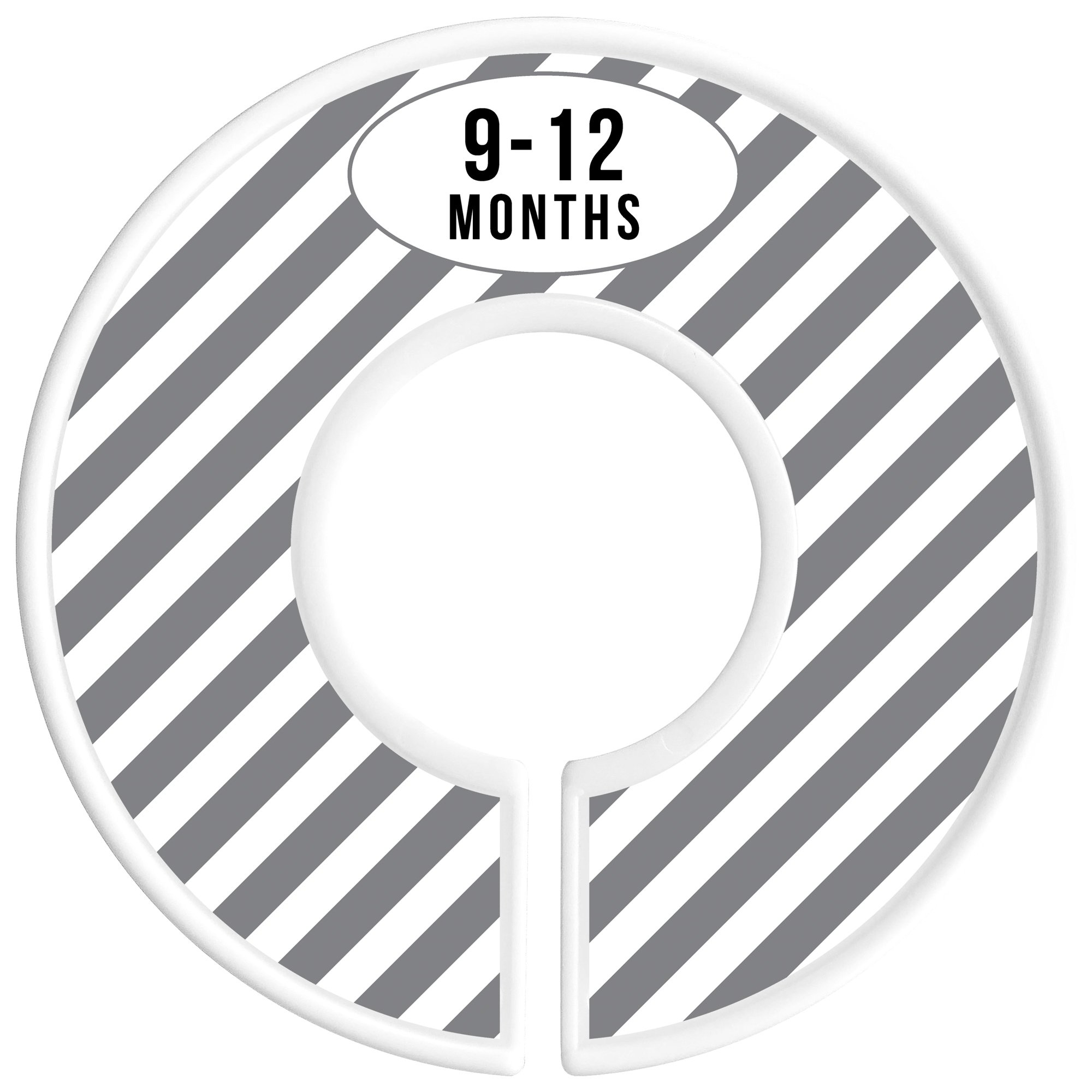 Delicush Baby Closet Dividers, Stripe, Chevron, Set of 6 Size Organizers, Nursery Closet Organizers, Baby Size Dividers, Glossy Finish, Boy, Girl (Grey) by DELICUSH (Image #6)