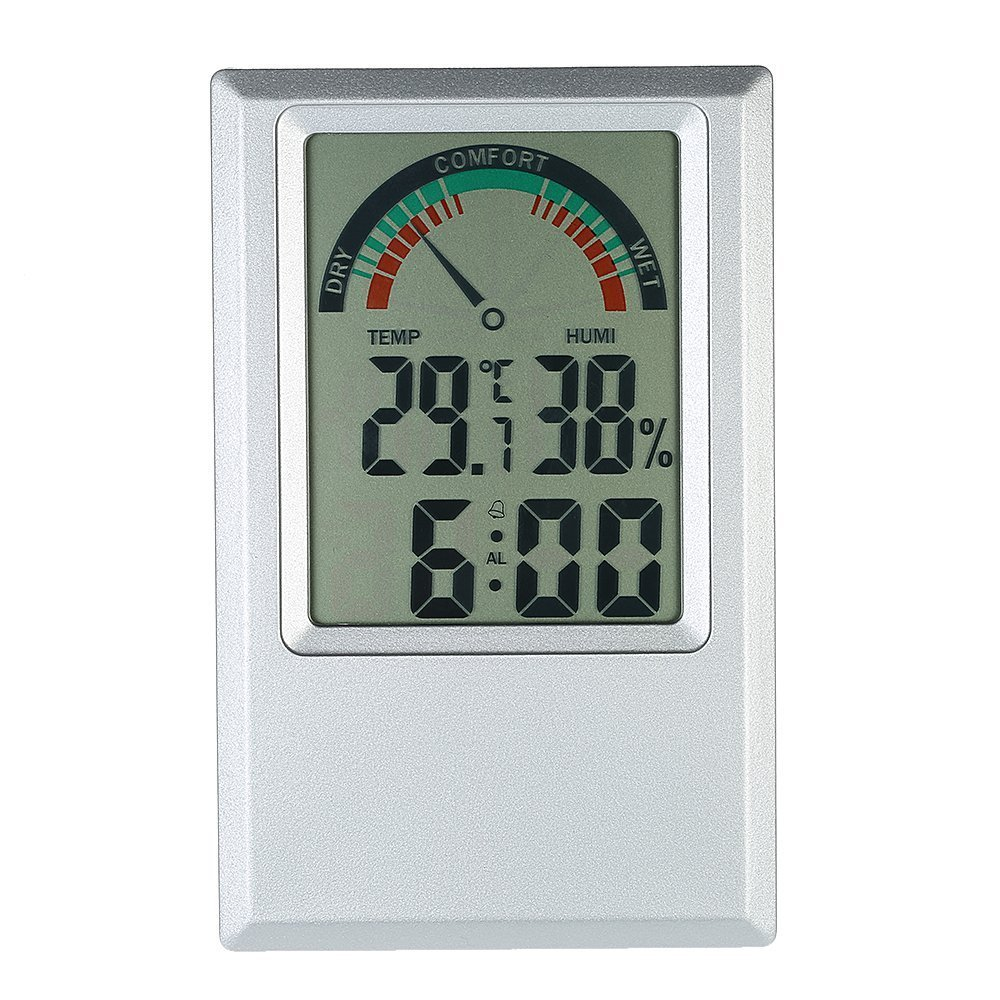 KKmoon CJ3308T - Termó metro e higró metro digital (temperatura má x/min, valor despertador) PEPAZUALAZA462