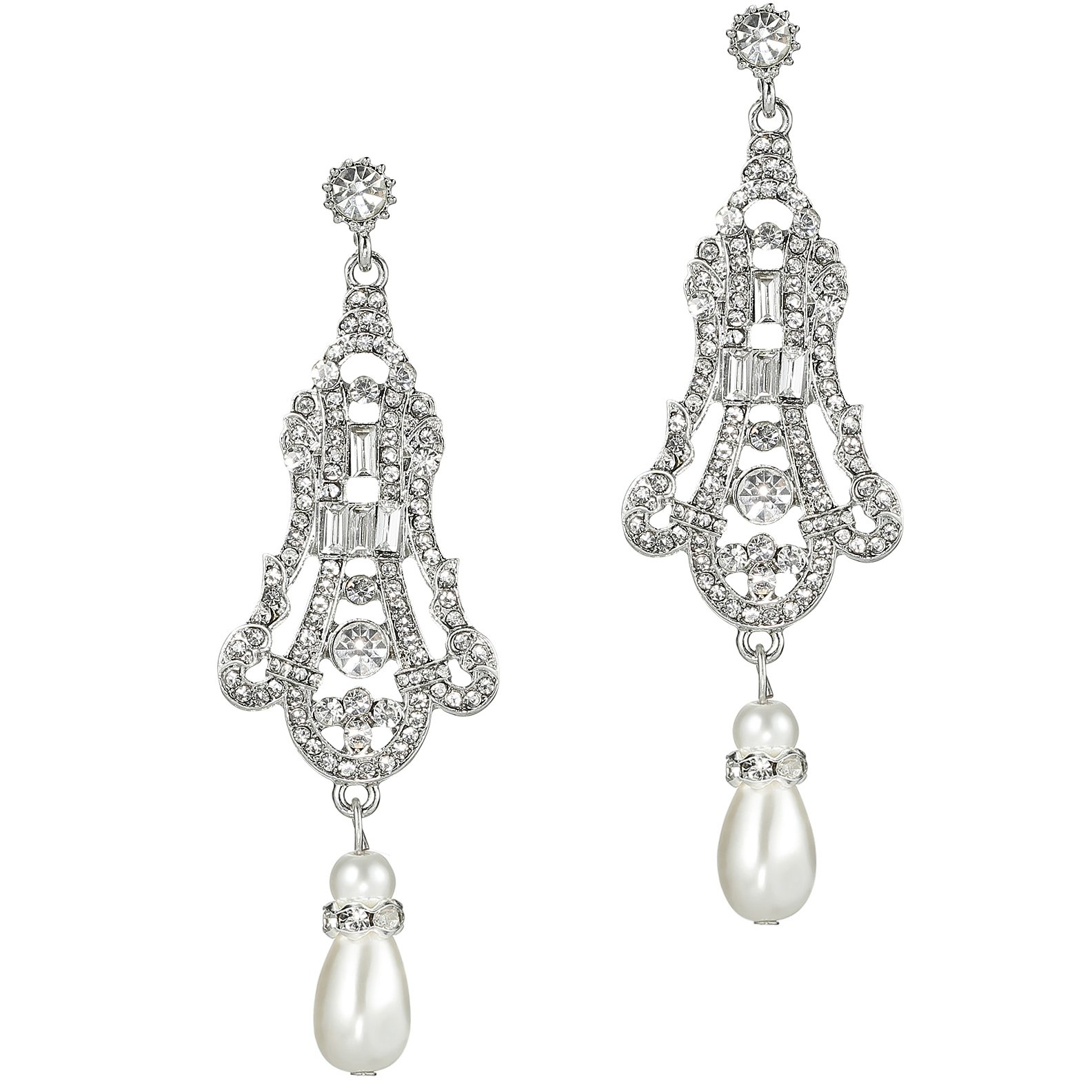 BABEYOND 1920s Flapper Art Deco Gatsby Earrings 20s Flapper Gatsby Accessories