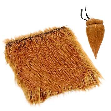 Disfraz de Mascota Divertida Lion Mane Peluca Peluca con Cola para Labrador Golden Christmas Disfraz de
