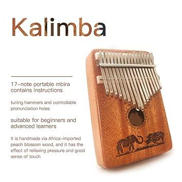 17 Hinweis Afrikanische Kalimba Mbira Thumb Piano Mahagoni Korpus für