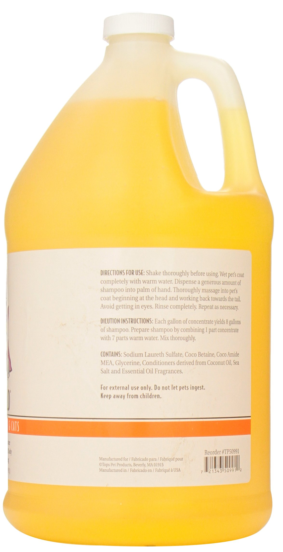 Top Performance SunGold Puppies and Kittens Shampoo, 1-Gallon by Top Performance (Image #2)