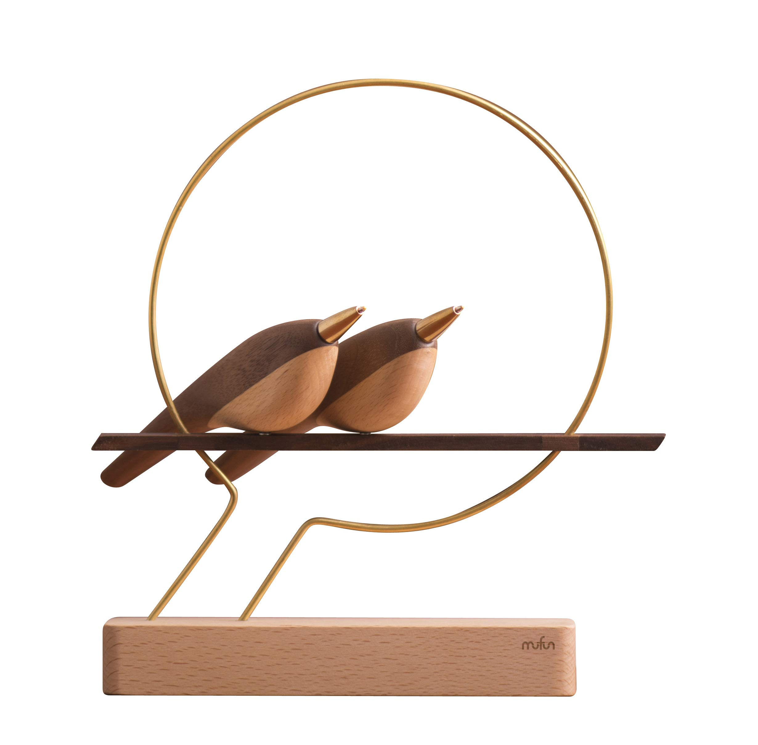 Wings of Pen - Creative bird pen design with magnetic display perch (Double) by playableART