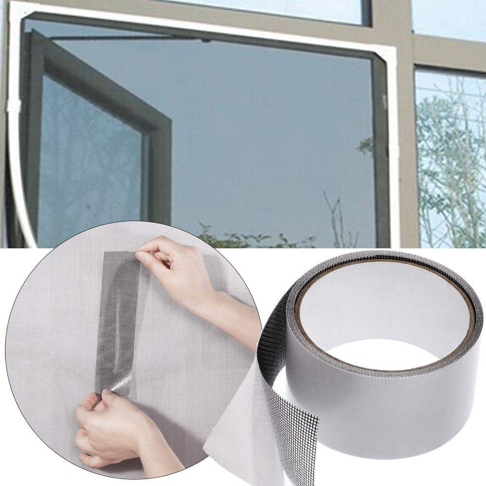Clearance Mosquito Screen Screen Repair Tap, Improving Patching Door Gate, Patio Door Net,for Wilderness Outdoor Repair Tape, 2''W x 80'' H (Gray)