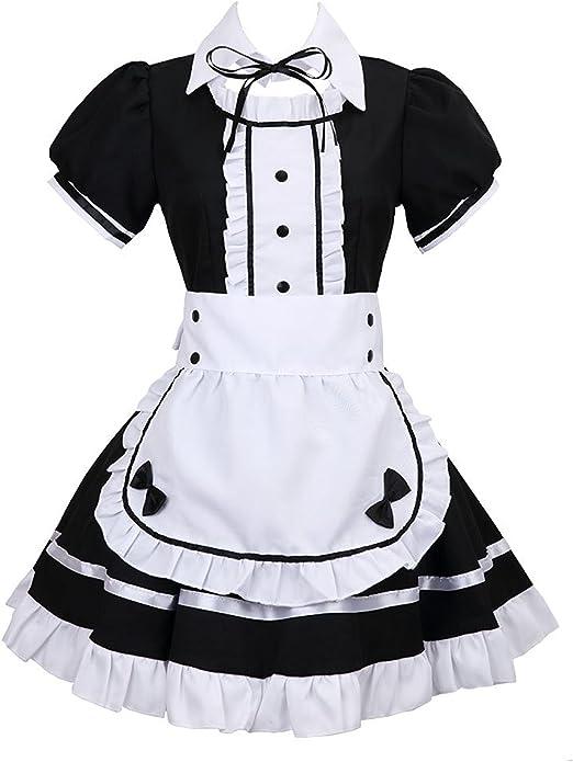 Disfraz de criada Tzm2016, de Anime Cosplay para Halloween, 4 ...
