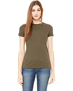 d1ee3b10791 Amazon.com  Bella Ladies  Sheer Jersey Short-Sleeve T-Shirt - White ...