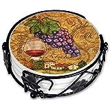 "Art Plates 677CC ""Wine Themed"" Ceramic Drink Coaster Set"