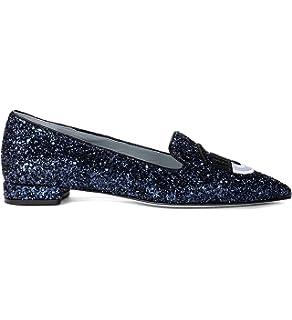Mules Chiara Ferragni Suite in Glitter Argento  Amazon.de  Schuhe ... 7c87321858