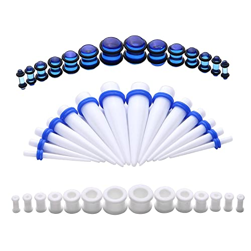 Kit de dilatadores de silicona para piercings, 8G 12 mm, 21 pares: Amazon.es: Joyería