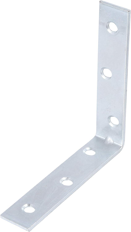 5X Steel Corner Braces 100mm 4 Zinc Flat Wood Right Angle L Shape Cabinet Cupboard Repair Bracket Plates
