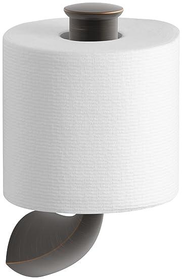Kohler K 37056 Alteo Single Post Vertikale Toilettenpapierhalter, Öl  Eingerieben Bronze (2BZ)