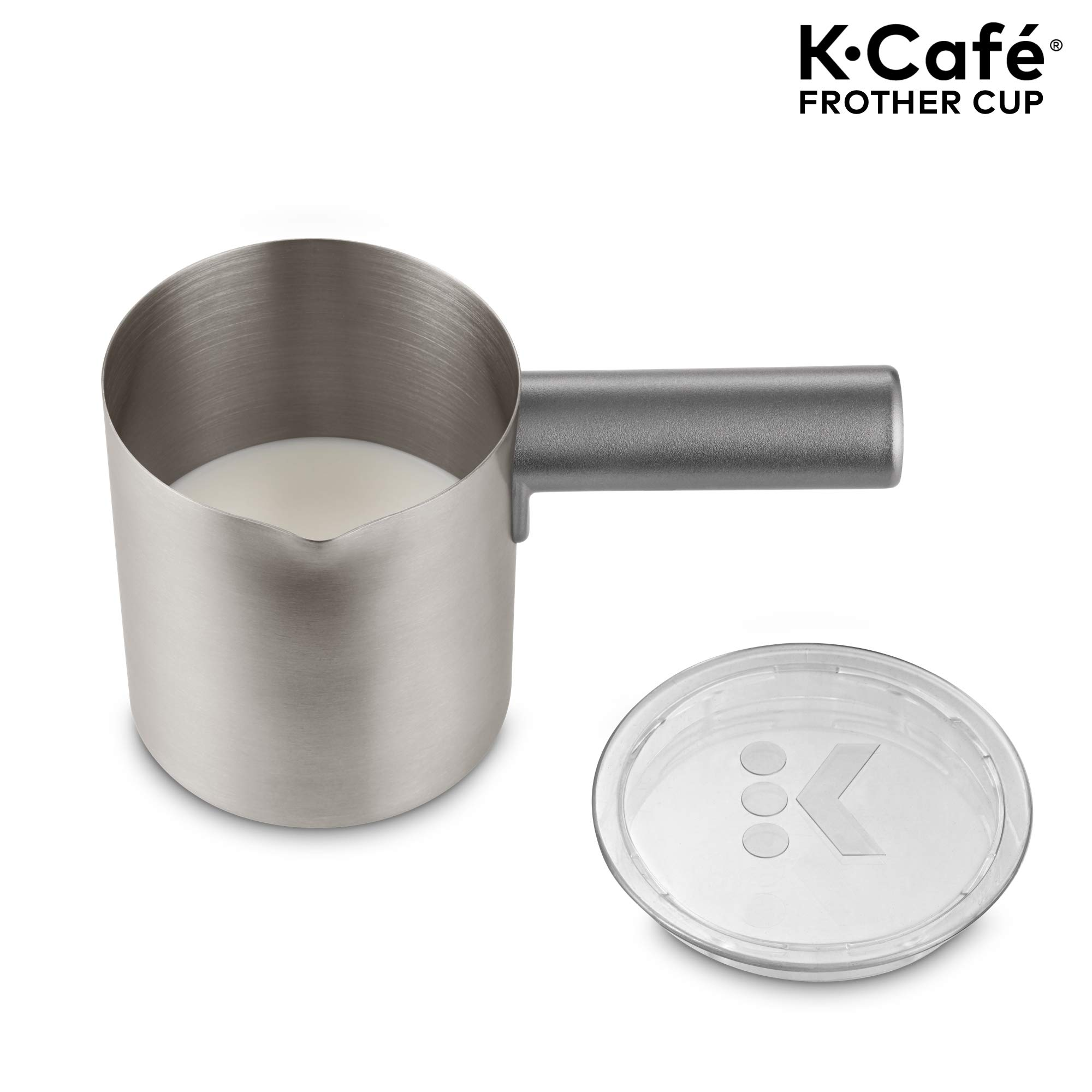 Keurig K-Café Milk Frother, Works with all Dairy and Non-Dairy Milk, Hot and Cold Frothing, Compatible with Keurig K-Café Coffee Makers Only, Nickel by Keurig (Image #2)