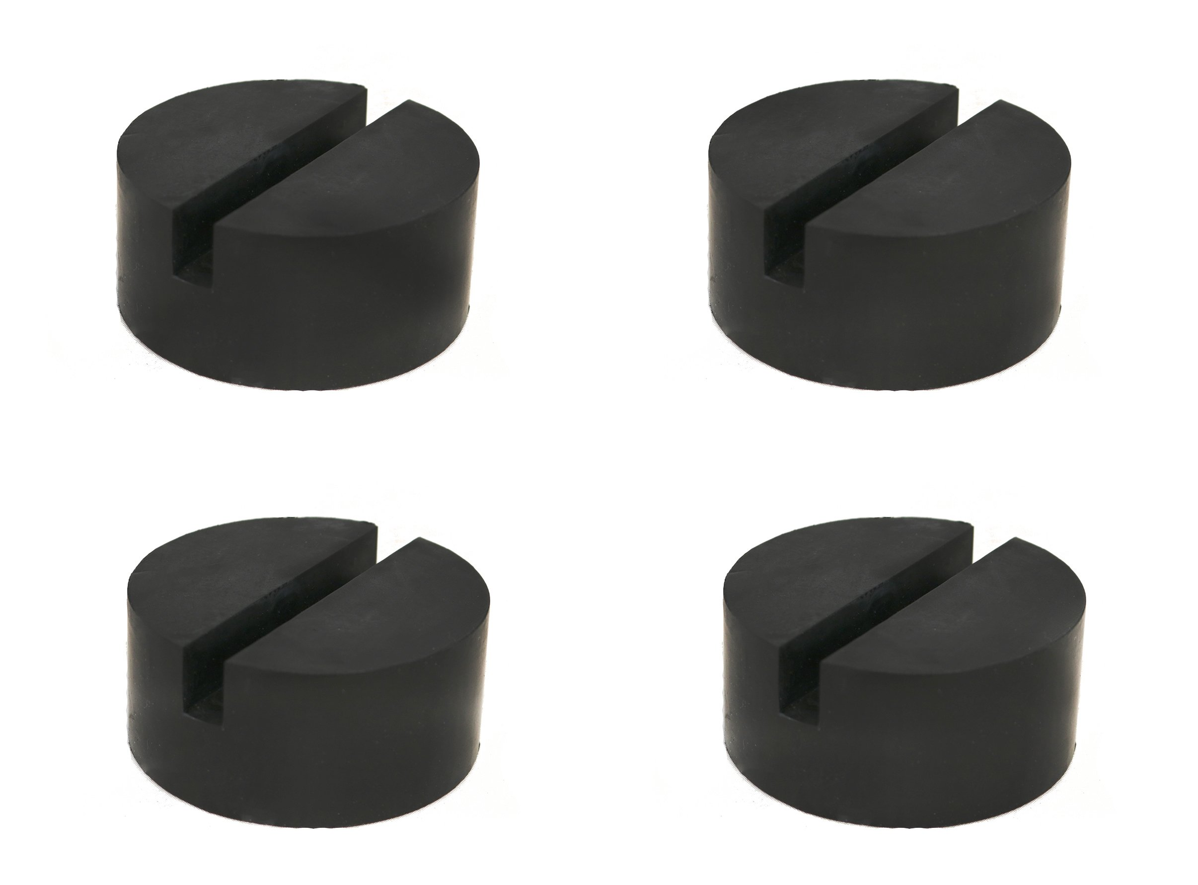 TMB 4 Pack Universal Medium Size Slotted Rubber Jack Pad Frame Rail Protector