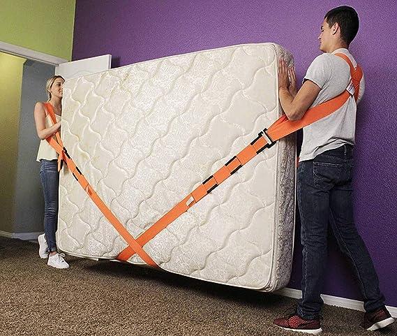 Saiko - Correa de espalda para levantamiento de horquilla de cuerda, para muebles, cinturón de mudanza, fácil de transportar muebles, electrodomésticos, ...