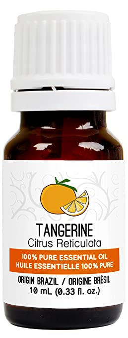 Tangerine Essential Oil 10 ml (0.33 fl. Oz.) - GCMS Tested, 100% Pure, Undiluted and Therapeutic Grade