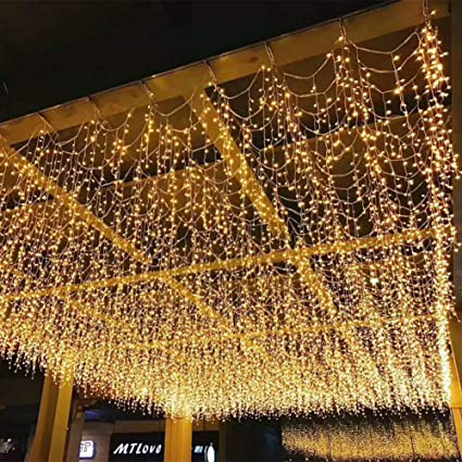 Artstore 3 5m 96leds Icicle Lights 8 Modes Ip44 Curtain Christmas Lights For Indoor And Outdoor Bedroom Patio Yard Garden Wedding Party Backdrops
